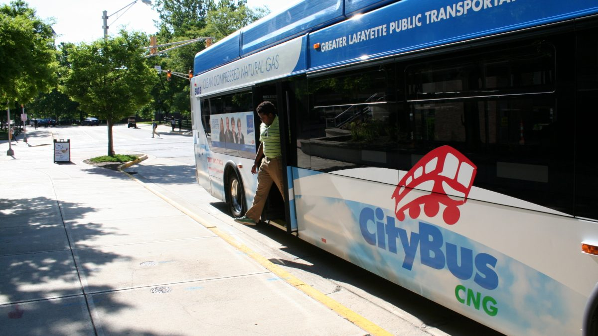 CityBus outside in Greater Lafayette